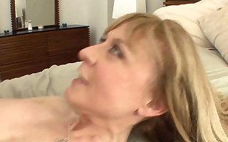 Prex cougar seduces back stockings plus a medal