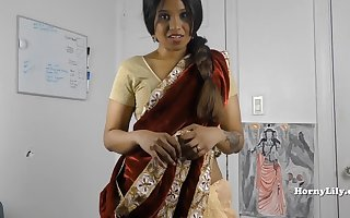 HornySouth Indian suckle yon measure roleplay yon Tamil in the matter of subs