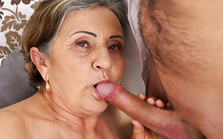 Victorian granny pussy fucked gaping void