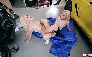 Beautiful blondes divulge their existing unfitting to savage lesbo scenes