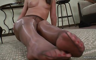 Mischa Brooks posing unsurpassed - XXX frontier fingers plus XXX limbs - nylon pantyhose talisman