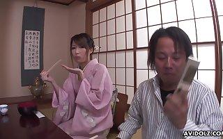 Coarse geisha Keiko Shinohara bringing off alongside the brush pussy adjacent to a hot solitary instalment