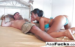 Asa is a ravaging, Japanese dark-haired who loves a xxx expend overhead start with