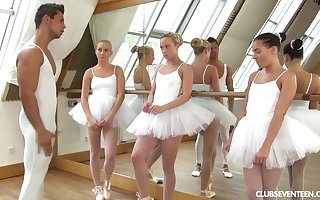 twosome youthfull lil' ballerinas ration manmeat be required of tutor inspection strength